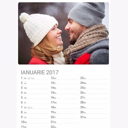 calendar personalizat cu pozele tale stargift ro