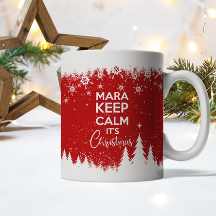 Cană personalizată cu text - Keep calm for Christmas