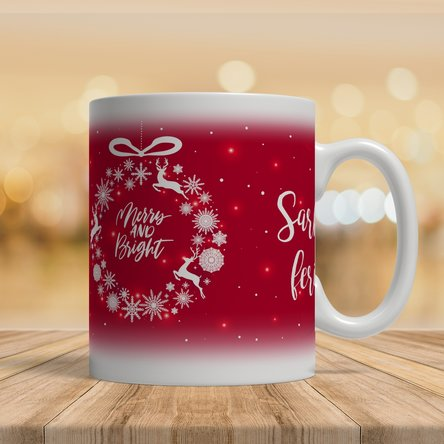 Cană personalizată cu text - Merry and Bright