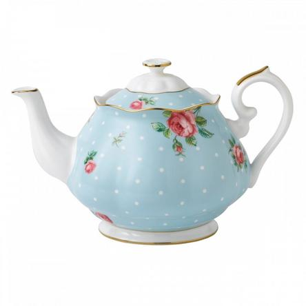 Ceainic Polka Blue 0.45l - Royal Albert
