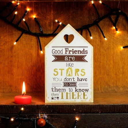 Decorațiune good friends are like stars