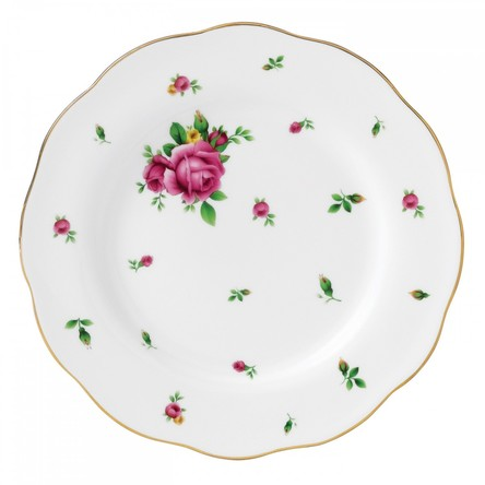 Farfurie 20 cm New Country Roses White - Royal Albert