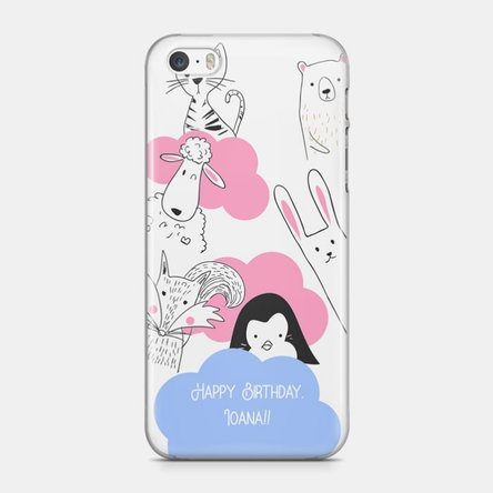 Husă personalizată Iphone 5 / 5s / SE - Animal friends
