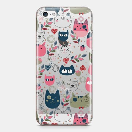 Husă personalizată Iphone 5 / 5s / SE - Cat doodles