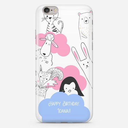 Husă personalizată iPhone 6 Plus / 6s Plus - Animal friends