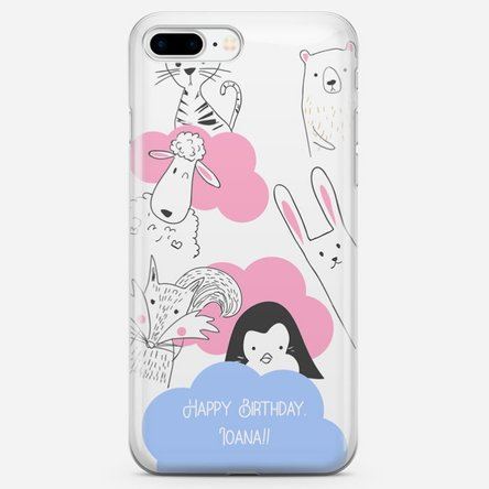 Husă personalizată Iphone 8 Plus - Animal friends