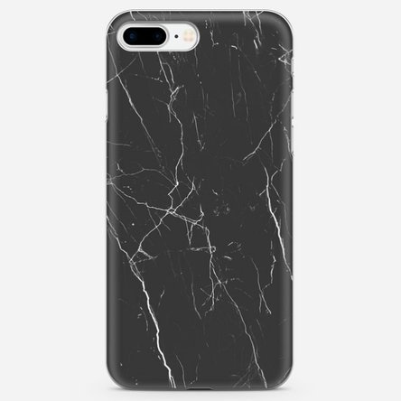 Husă personalizată Iphone 8 Plus - Black marble