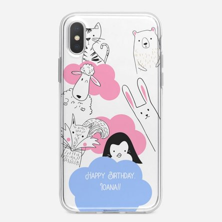Husă personalizată Iphone X / XS - Animal friends
