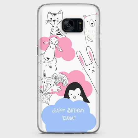 Husă personalizată Samsung Galaxy S7 Edge - Animal friends