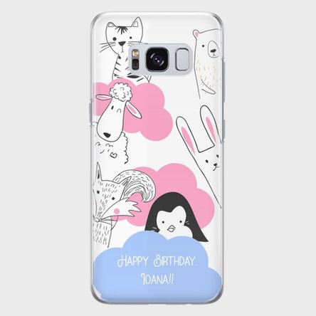 Husă personalizată Samsung S8 - Animal friends