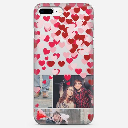 Husă silicon personalizată cu poză Iphone 8 Plus - Confetti love