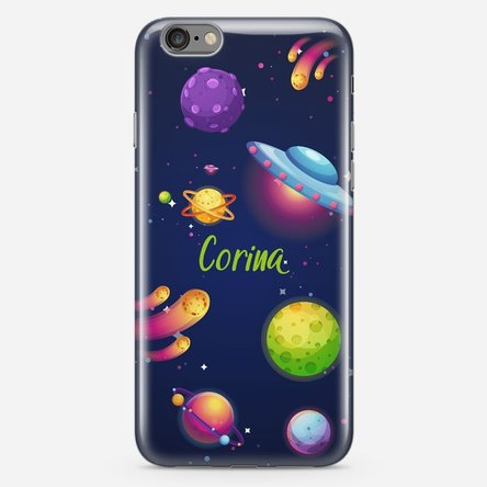 Husă silicon personalizată cu text Iphone 6 / 6s - Cosmos