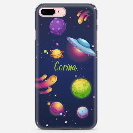 Husă silicon personalizată cu text Iphone 8 Plus - Cosmos