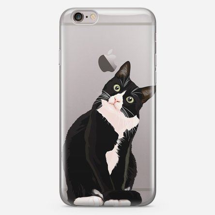 Husă silicon personalizată iPhone 6, 6s - peekaboo cat