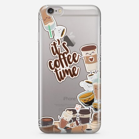 Husă silicon personalizată iPhone 6 Plus / 6s Plus - Coffee time