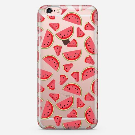 Husă silicon personalizată iPhone 6 Plus, 6s Plus - Watermelon