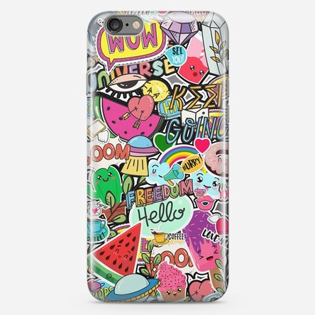 Husă silicon personalizată iPhone 6 Plus / 6s Plus - Happy Stickers