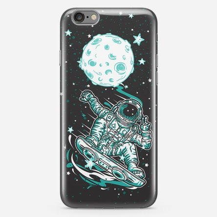 Husă silicon personalizată iPhone 6 Plus / 6s Plus - Moon skating