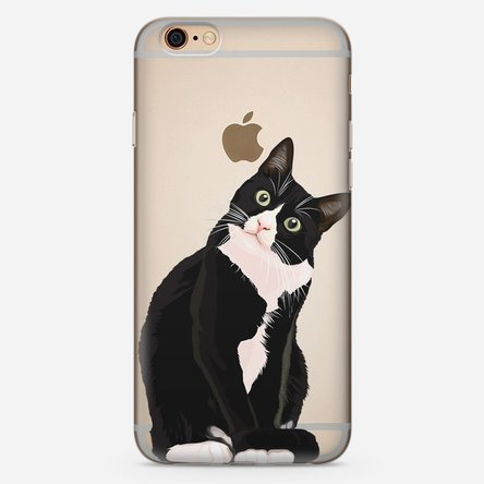 Husă silicon personalizată iPhone 6 Plus, 6s Plus - peekaboo cat