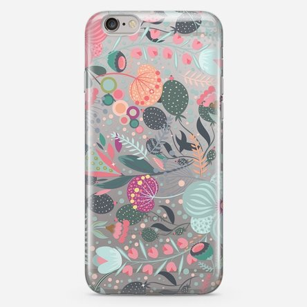 Husă silicon personalizată Iphone 7 - Flower mix