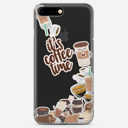 Husă silicon personalizată Iphone 7 Plus - Coffee time