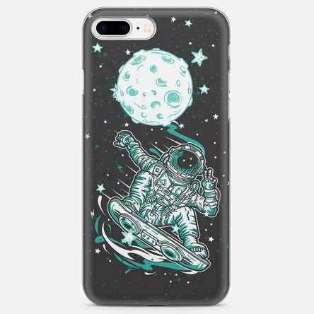 Husă silicon personalizată Iphone 7 Plus - Moon skating