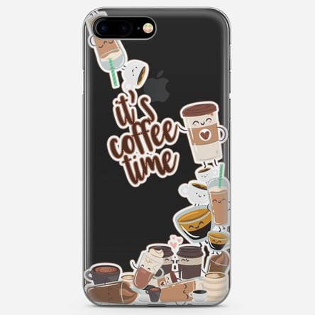Husă silicon personalizată Iphone 8 Plus - Coffee time