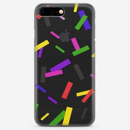 Husă silicon personalizată Iphone 7 Plus - Confetti
