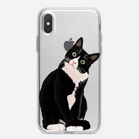 Husă silicon personalizată Iphone X - peekaboo cat