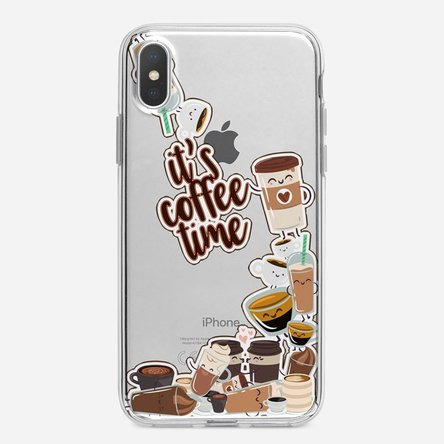 Husă silicon personalizată Iphone X / XS - Coffee time