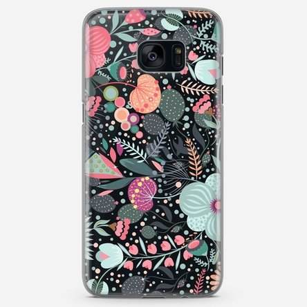 Husă silicon personalizată Samsung Galaxy S7 Edge - Flower mix