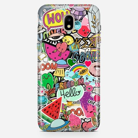 Husă silicon personalizată Samsung J5 2017 (J530) - Happy Stickers