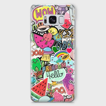 Husă silicon personalizată Samsung S8 Plus - Happy Stickers