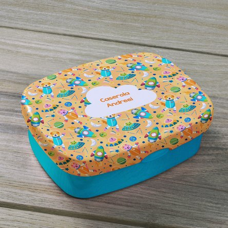 Lunch box personalizat cu text - Astro