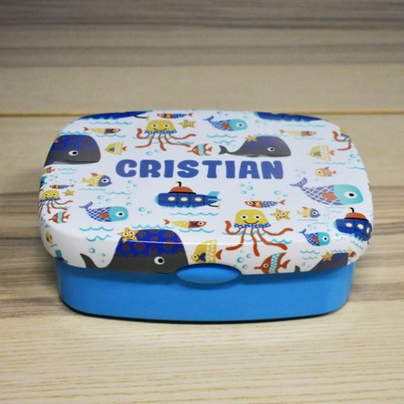 Lunch box personalizat cu nume - Sea