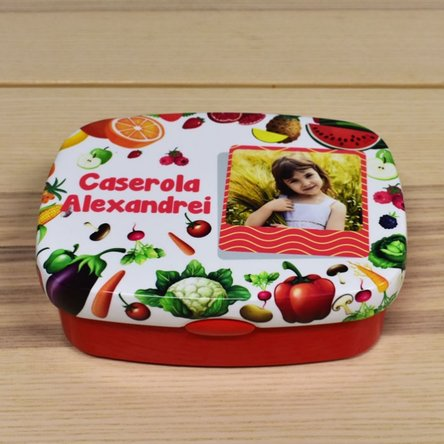Lunch box personalizat cu text și poză