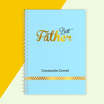 Notebook personalizat - Best Father, Blue