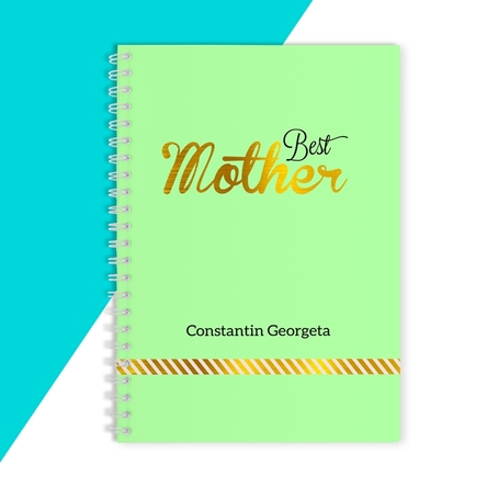 Notebook personalizat - Best Mother, Green