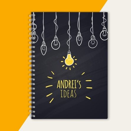 Notebook personalizat - Bright Ideas