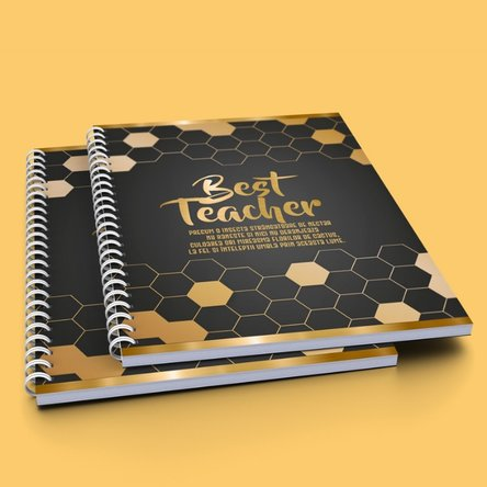 Notebook personalizat cu text - Best teacher