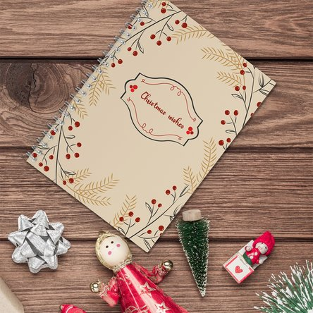 Notebook personalizat cu text - Christmas wishes