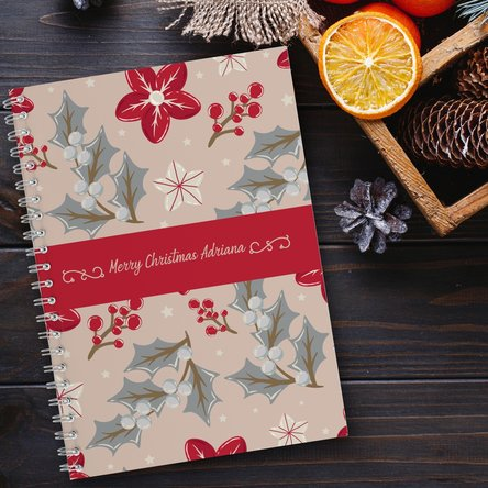 Notebook personalizat cu text - Christmas