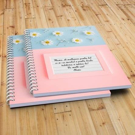Notebook personalizat cu text - Daisies