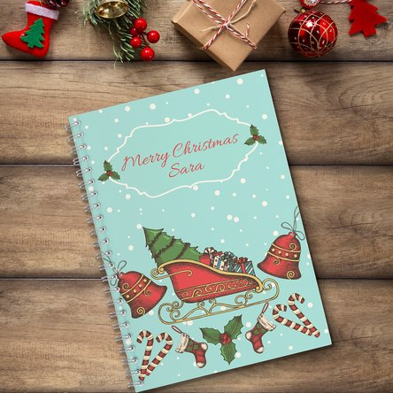Notebook personalizat cu text - Merry Christmas