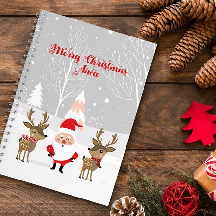 Notebook personalizat cu text - Santa Claus