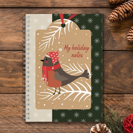 Notebook personalizat cu text - Winter holiday