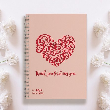Notebook personalizat Give Thanks