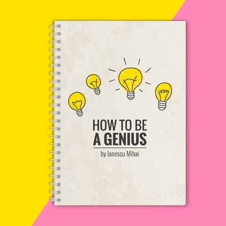 Notebook personalizat - How to be a genius
