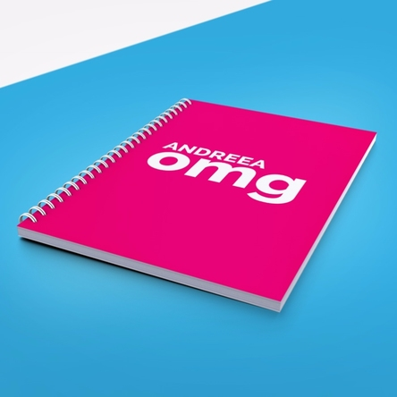 Notebook personalizat - OMG