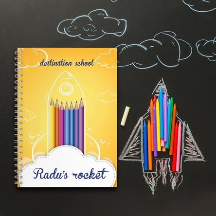 Notebook personalizat Rocket
